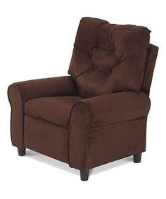 Look what I found on #zulily! Chocolate Micro Kids Komfy Kings Club Recliner #zulilyfinds