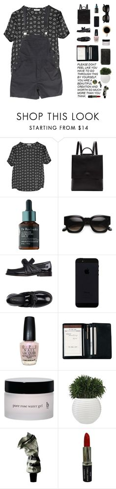"""Untitled #1667"" by my-artsy-soul ❤ liked on Polyvore featuring Equipment, Building Block, ZeroUV, CÉLINE, OPI, Royce Leather, Aesop and Manic Panic NYC"