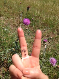 They will grow strong like the cedars of Lebanon... (Tree tattoo on finger)