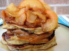 Caramel Apple Pancakes (nut free) | PaleOMG - Paleo Recipe This dessert will compliment my lamb meal tonight.