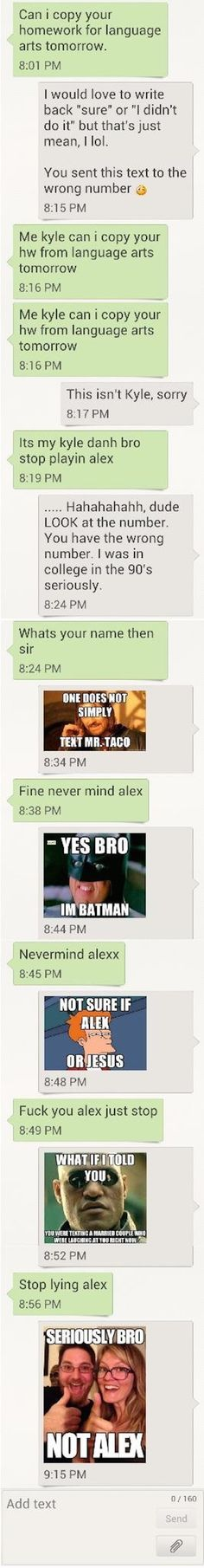 15 of the most creative text message responses to wrong numbers. | Wrong Number Texts | Someecards