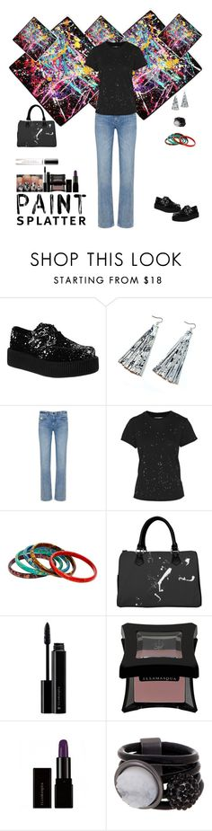 """Paint Splatter Style"" by sereneowl ❤ liked on Polyvore featuring Helmut Lang, Current/Elliott, Illamasqua, Saachi, Ralph Lauren, paintsplatter and contestentry"