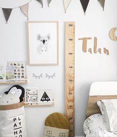 Scandinavian styled nursery featuring our Koko the Koala Print