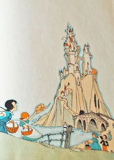 Illustration from a Book House books.  Fairytales, castles, and dreams coming true- just another Tuesday.