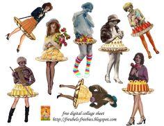Free Digital Collage Sheets | freubels-freebies