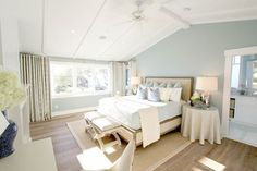House of Turquoise; This fabulous home designed by Nagwa Seif Interior Design out of Irvine, California tugs at every one of my turquoise-loving heartstrings! House Of Turquoise, Turquoise Room, Light Turquoise, Modern Bedroom Design, Luxury Interior Design, Bedroom Designs, Bedroom Themes, Bedroom Decor, Bedroom Ideas