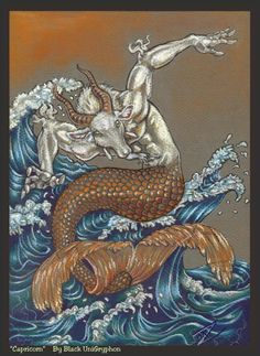 Capricorn in Color by BlackUniGryphon on DeviantArt Capricorn Symbol, Capricorn Art, Capricorn Women, Capricorn Tattoo, Capricorn Quotes, Zodiac Art, Zodiac Signs, Astrology Signs, Hanged Man Tarot