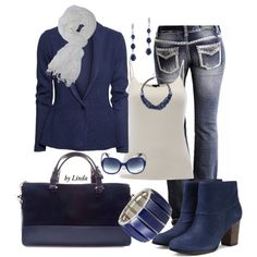 """""""Winter Blues Outfit"""" by lindakol on Polyvore"""
