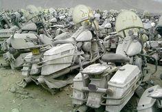 Police Bike Graveyard #Abandoned #Forgotten