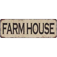Free Shipping. Buy Farm House Vintage Look Reproduction Metal Sign 6x18 6180518 at Walmart.com