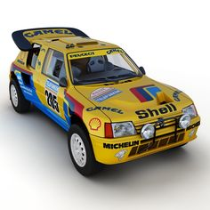 Another high quality render of the Peugeot 205 T16 by the TurboSquid outfit.