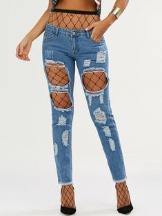 05f716daf 22 Best Ripped jeans with pearls images | Denim outfits, Denim jeans ...