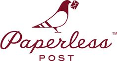 New Paperless Post Logo -- a pigeon!!
