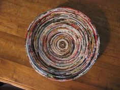 Coiled magazine bowls don't look that bad... and if the project turns into a disaster, no money was spent. Sweet!