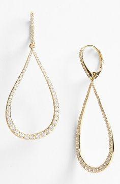 Nadri Open Teardrop Earrings available at #Nordstrom