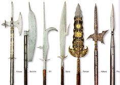 Image 28561: bardiche bill glaive halberd partisan pike polearm poleaxe. (I believe this bill could also be called a guisarme.)