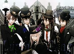 Code: Realize: Steampunk Gentlemen This is one I've been waiting for a long time to scan. Originally sold as a wall scroll at I believe the 2015 Summer Otomate Market, it was included with the illustrations for the visual fan book for the...