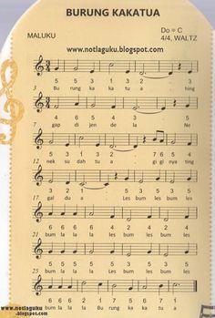 Not Angka Lagu Burung Kakaktua | Not Angka Lagu Indonesia