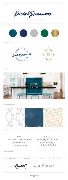 Brand Reveal // Kendall Simmons Interiors // Grit & Wit #interiordesign #branding #gritandwit #design