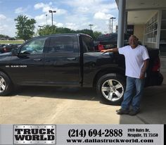https://flic.kr/p/FXmkXg | Happy Anniversary to Larry on your #Ram #1500 from Jason Thies at Dallas Truck World! | deliverymaxx.com/DealerReviews.aspx?DealerCode=WDBL
