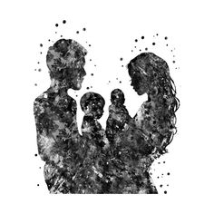 Check out this awesome Mother father son and design on Mother Daughter Art, Mother Art, Father And Son, Mother And Baby Tattoo, Baby Icon, Mini Canvas Art, Family Illustration, Clinic Design, Baby Tattoos