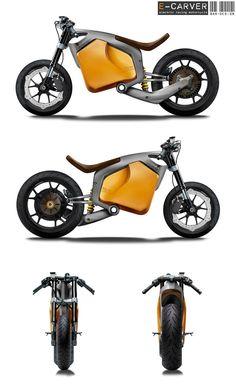 E-Carver Electric Racebike Concept   buena combinación de colores...