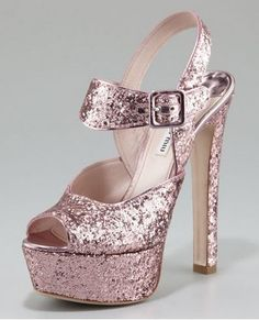 Glitter sequins Slugged bottom Super high-heeled shoes sandal