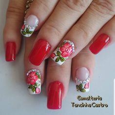 Spring Nails, Summer Nails, Wedding Nails Design, Nail Polish Art, Feet Nails, Flower Nails, Gorgeous Nails, Swag Nails, Nail Tips