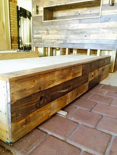 salvaged pallet bed frame