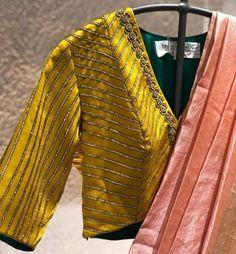 Saree Blouse Neck Designs, Fancy Blouse Designs, Bridal Blouse Designs, Latest Blouse Designs, Golden Blouse Designs, Neckline Designs, Choli Designs, Raw Denim, Fitness Workouts
