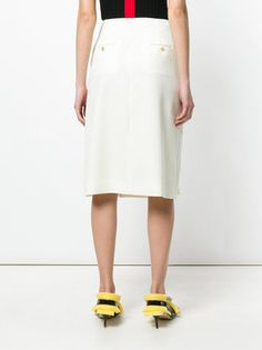 Carven pleated side skirt