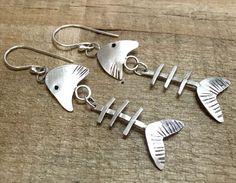 Fantastically Fun Fish Earrings Fish by silverleafdpstudios