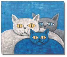 cat painted on canvas - Google Search