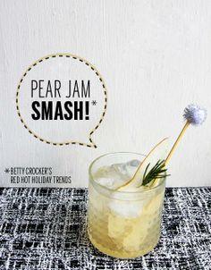 Twist on the trend: Pear Jam Smash // take a megabite cheer, food, cocktail, jam smash, nice drink, pears, recip, beverag, pear jam