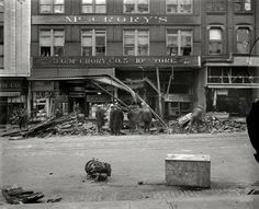 Dime-Store Disaster: 1929...Aftermath of the McCrory disaster, a virtually forgotten chapter in the history of Washington, D.C.: At 1:32 p.m. on Nov. 21, 1929, a boiler in the basement of the McCrory five-and-dime store at 416 Seventh Street NW exploded, demolishing the ground floor and igniting a fire in a deafening blast whose final toll was six dead and dozens injured