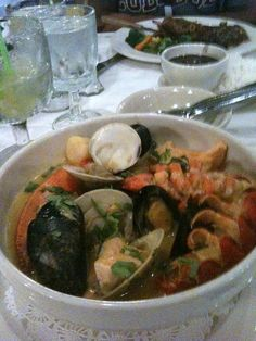 I would give anything for a bowl of this Seafood dish right now!