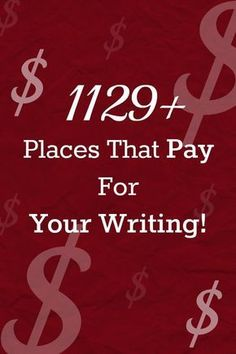 Places That Pay For Your Writing- Writing resources Freelance Writing Jobs, Writing Advice, Writing Resources, Writing Help, Writing A Book, Writing Prompts, Writing Ideas, Blog Writing, Essay Writing
