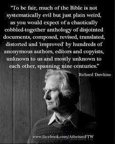 Atheism, Religion, God is Imaginary, The Bible, Humans Wrote the Bible… Atheist Quotes, Humanist Quotes, Bible Quotes, Secular Humanism, Richard Dawkins, Thing 1, Humor, In This World, Decir No
