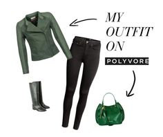 """""""Emerald black outfit"""" by kicsiyudesign on Polyvore featuring H&M, Naf Naf, Étoile Isabel Marant and Harrods"""