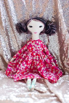 novamelina - Adeline from my first patch of dolls i handmade with love :)  #clothdoll #handmade #doll #heirloomdoll #ragdoll #madewithlove #sewing #libertyartfabrics #libertyprints