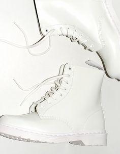 All white doc martens