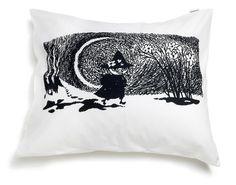 Moomin Pillow Case Snufkin B/W 55 x 65 cm