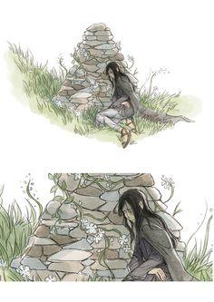 Maeglin at Aredhel's grave, unknown artist. <-This is so not okay. No. Not at all.
