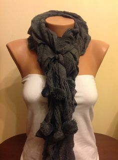 A personal favorite from my Etsy shop https://www.etsy.com/listing/180129607/on-salewinter-scarfgrey-knitted