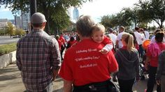 Down Syndrome Buddy Walk 2013: Levi at the center (uncle Jensen Ackles on the left)