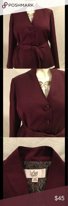 ❄️Le Suit Burgundy Blazer❄️ Stunning Le Suit Blazer. Perfect dressed up or down. This jacket won't disappoint. Add it to you closet today. Worn once. Le Suit Jackets & Coats Blazers