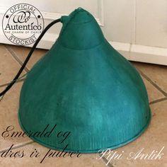 Industrilampe i irret look med Emerald og irpulver Autentico