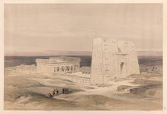 Temple of Edfou [Idfû], ancient Appolinopolis, Upper Egypt by David Roberts