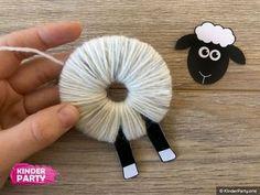 Eid Crafts, Diy Crafts To Sell, Paper Crafts, Hand Crafts For Kids, Diy For Kids, Montessori Activities, Kindergarten Activities, Diy Eid Gifts, Sheep Crafts