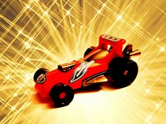 """Modified Photo:  """"Red Racer - Kinder Toy"""""""
